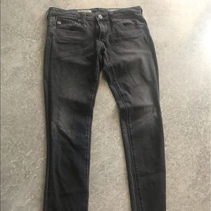 AG faded gray skinny jeans